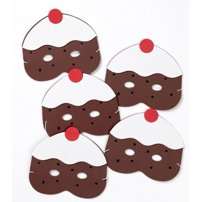 Five Currant Buns in the Bakers Shop mask set