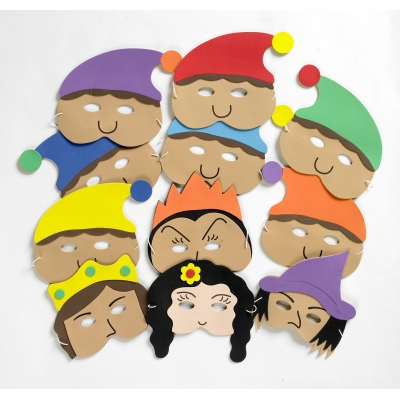 Snow White & the 7 Dwarves mask set