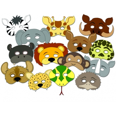 Wild Animal Mask Set