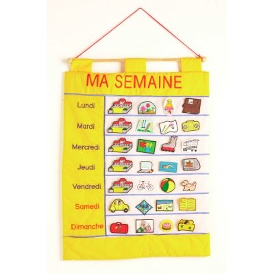 Ma Semaine - My week chart French