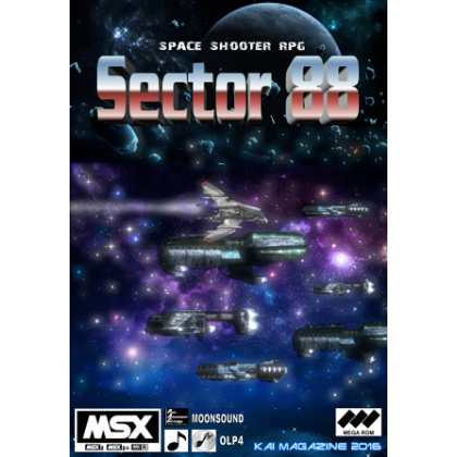 Sector 88 CARTRIDGE VERSION MSX2 space shooter rpg 2016