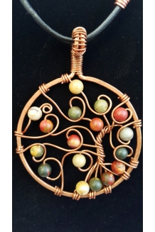 Copper Pendant Necklace Tree of Life