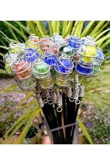 Stake Crackle Glass Bal..