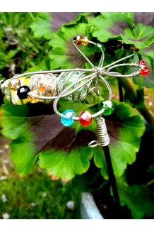 Stake Silver Dragonfly Glass..