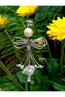 Glass Ball stake with Angel ..