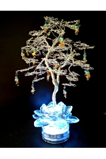 🌻 CHAKRA  Crystal Gemstone Tree Sculpture LED 🌻 🌻