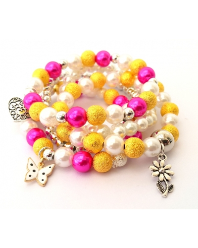 Pearl 5 Stack Bracelet Party 7+
