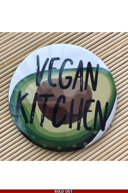 Vegan Kitchen - fridge magnet.