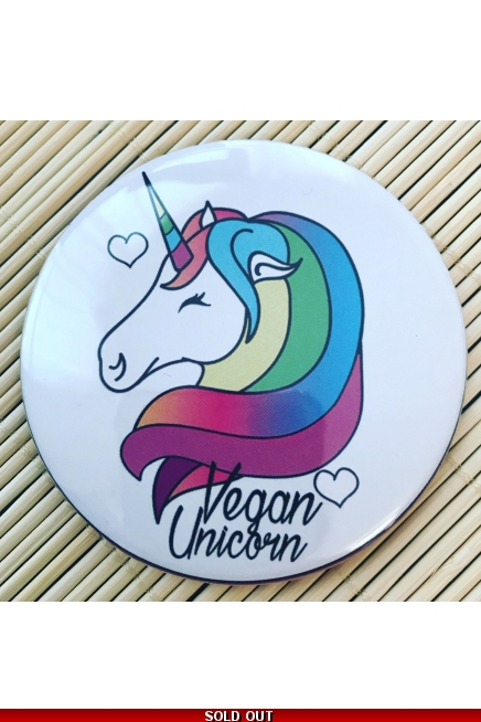 Vegan Unicorn. - fridge magnet.