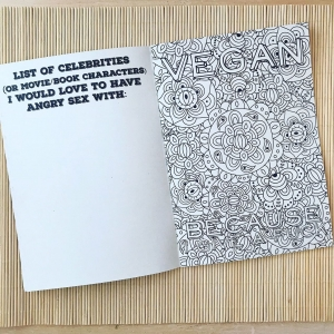 DISCOUNT DUE TO PRINTING ERROR - READ DESCRIPTION - The Angry Vegan colouring book.