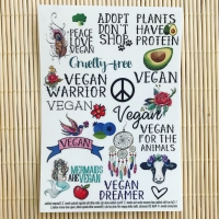 Vegan Dreamer - A6 temporary tattoo set.