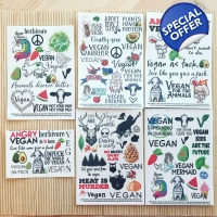 The XXL vegan temporary tattoo set bundle - 6 se..