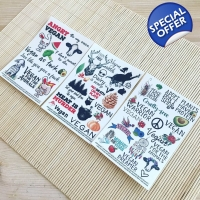 3 for 2 vegan temporary tattoo sets bundle. Save..
