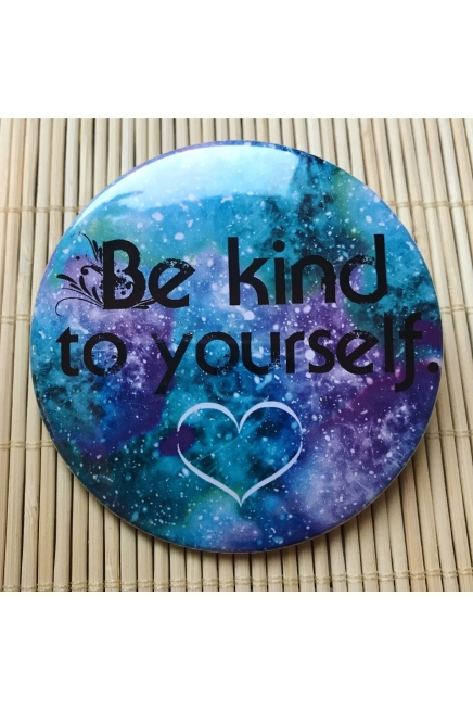 Be kind to yourself - pocket mirror. Vegan friendly. Vegan gift ideas. Self lo..