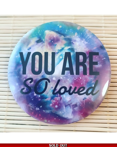 You are so loved - pocket mirror. Vegan friendly gift. Vegan gift. Mother's Day gift. Birthday gift.
