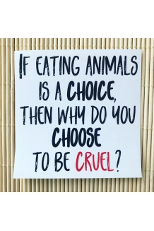 If eating animals is a ..