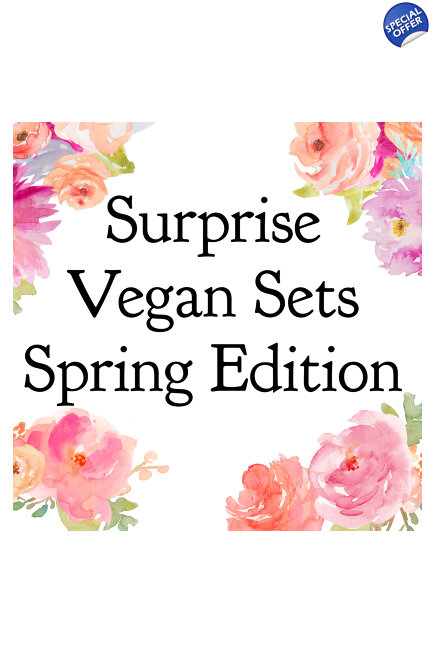 Surprise Vegan Sets - Spring edition - only 20 available! Vegan gift. Vegan su..
