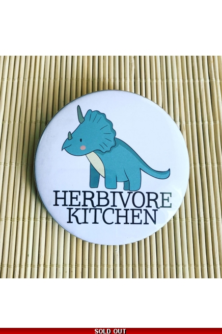 Herbivore Kitchen - vegan fridge magnet. Vegan kitchen. Vegan home. Vegan gift..