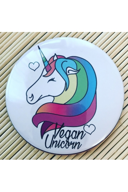 Vegan Unicorn. - fridge magnet. Vegan magnet. Vegan home. Vegan gift ideas.