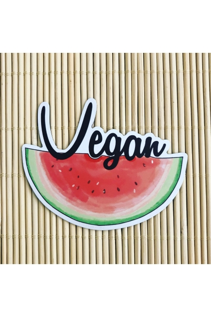 Vegan watermelon fridge magnets. Vegan fridge. Vegan kitchen. Vegan home. Vega..