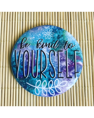Be kind to yourself - pocket mirror. Vegan friendly. Vegan gift ideas. Self love 💕