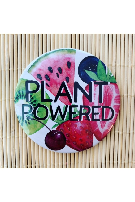 Plant Powered - vegan fridge magnet. Vegan home. Vegan kitchen. Vegan fridge. ..
