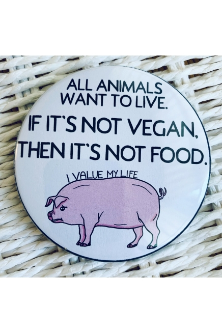 All animals want to live. - vegan fridge magnet. Vegan fridge. Vegan kitchen. ..