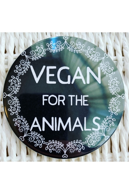 Vegan for the animals - vegan fridge magnet. Vegan fridge. Vegan kitchen. Vega..