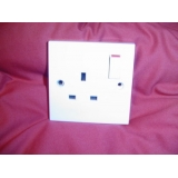 socket white single 13amp