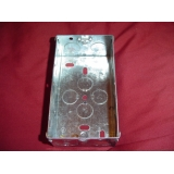 METAL BACK BOX DOUBLE FOR COOKER SWITC..