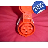 3 phase euro suface mount socket 5 pin..