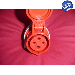 3 Phase euro suface mount socket4 PIN 32amp
