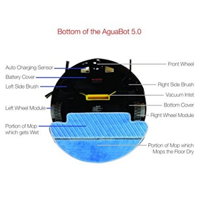 Milagrow Aguabot 5.0 Water - 1st Full Wet Mopping & Dry Cleaning Floor Robot