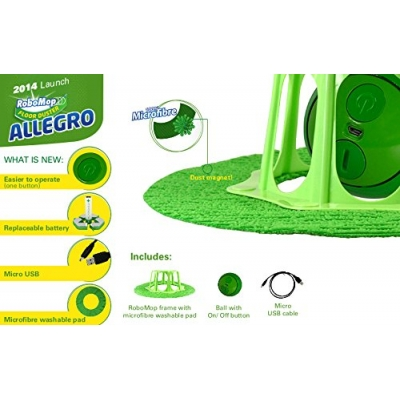 RoboMop Allegro Green Robotic Floor Sweeper - Robotic Vacuum And Mop