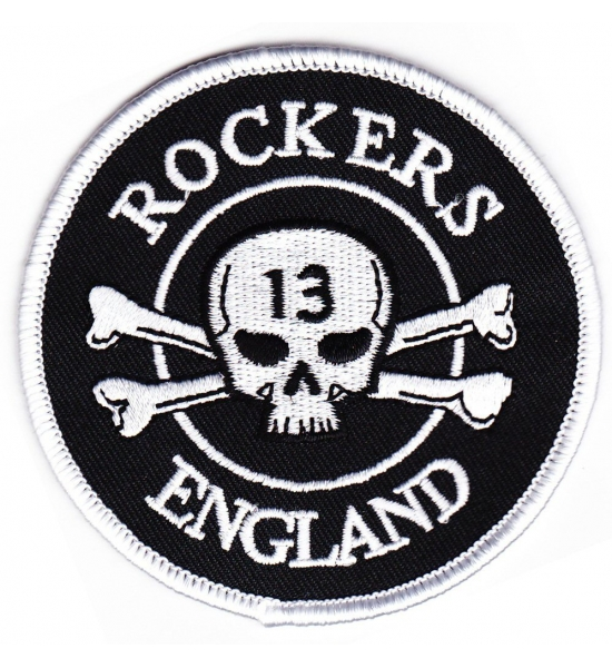 Rockers England Original Logo Embroidered Patch - Free UK P&P