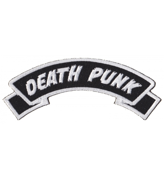 Death Punk Embroidered Sew On Patch - Free UK P&P