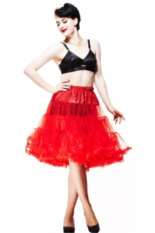 Petticoat Red Rockabilly Style - UK P&P Included