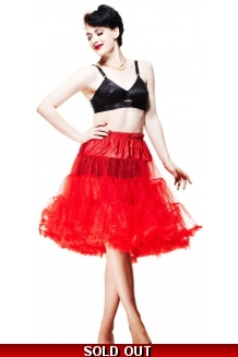 Red Rockabilly Petticoat - UK P&P Included