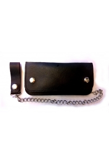 Wallet - Plain leather Biker wallet UK P&P Inclu..