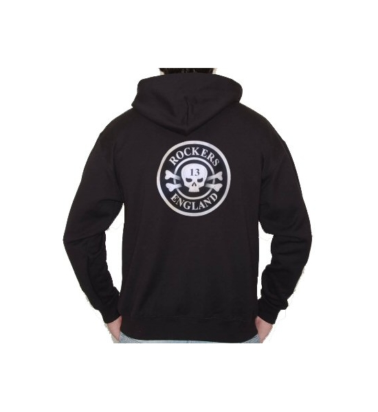 Rockers England Original Logo Zip fronted Hoody UK Posage Included