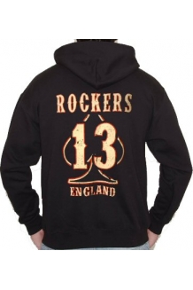 Rockers England BIG 13 Zip fronted Hoody UK Posage Included