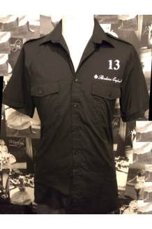 Rockers England Black Workshirt, UK P&P Included