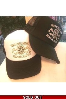Rockers England, Trucker Caps, Black or White UK P&P Included