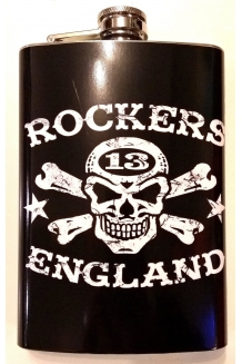 Cheers - Cool, Rockers England Hip Flask.UK P&P Included