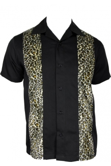 Lounge Shirt. Leopard print panel shirt. UK P&P ..