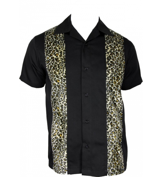 Lounge Shirt. Leopard print panel shirt. UK P&P Included
