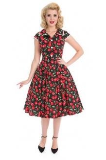 Dress - Cherry Red Vintage Style Dress: UK P&P Included