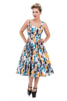 Dress - Paint Stroke Swing Dress: UK P&P Included