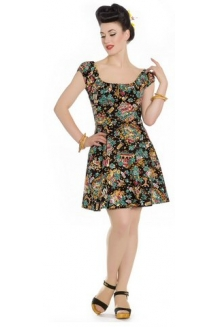 Dress - Monte Carlo Mini Dress. Vintage style fabric UK P&P Included