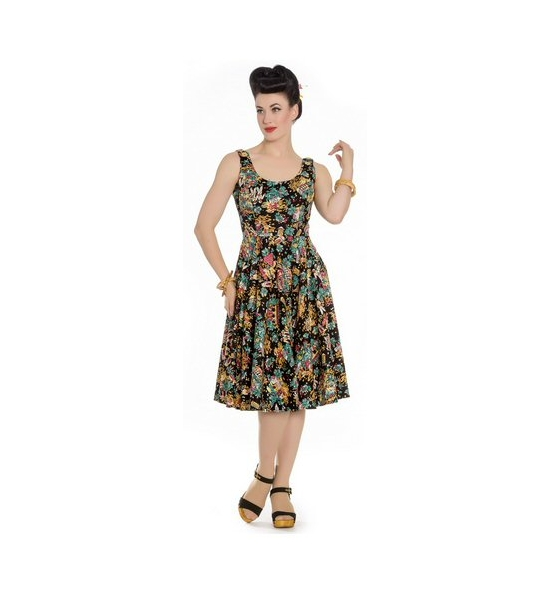 Dress - Monte Carlo Swing Dress. Vintage style fabric UK P&P Included